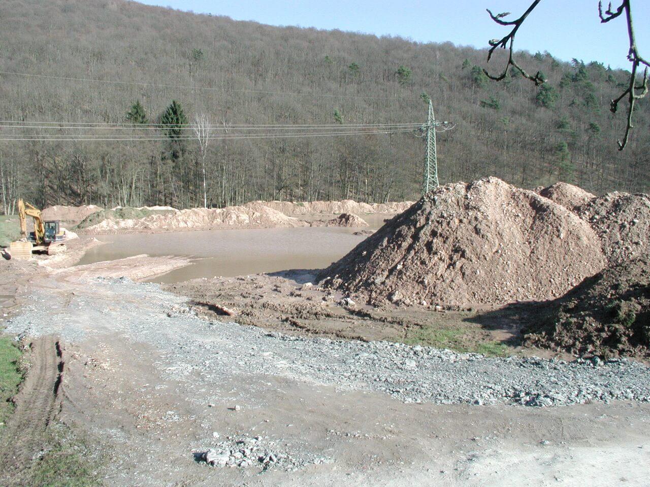 Vereinsgewässer Bauarbeiten 2000
